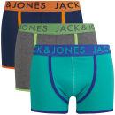 Jack & Jones Men's Solomon 3-Pack Boxers - Blue