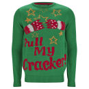 Threadbare Men's Crackers Knitted Jumper - Green