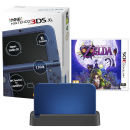 NEW 3DS XL Metallic Blue Console - Includes Legend of Zelda: Majora's Mask & Black Charging Cradle