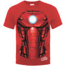 Marvel Avengers Assemble Men's T-Shirt Iron Man Chest Burst - Red