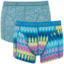 Bjorn Borg Dip Dye and Denim 2 Pack Boxer Shorts - Blue Atoll