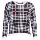 Moku Women's Checked Knit Jumper - Black