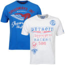 Ringspun Men's Graphic Printed  T-Shirt Two pack Royal/White Thunder