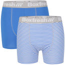 Boxfresh Men's 2-Pack Boxer Shorts - Blue/White