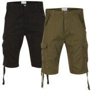 55 Soul Men's 2-Pack Conway Shorts - Black/Khaki