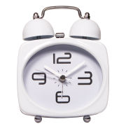 Silent Alarm Clock - White