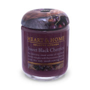 Heart & Home Sweet Black Cherries - Small Jar Candle