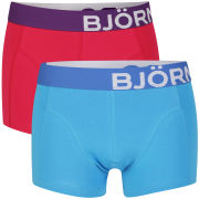 Bjorn Borg Men's Seasonal Solid 2-Pack Boxer Shorts - Jazzy