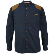 Tokyo Laundry Men's Asher Cord Patch Shirt - Dark Navy