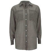 Influence Women's Oversized Check Shirt - Black
