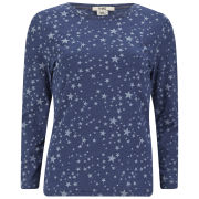 YMC Women's Stars Long Sleeved T-Shirt - Navy