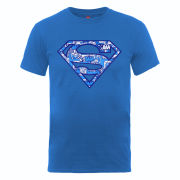 DC Comics Men's T-Shirt Superman Comic Logo - Royal Blue