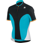 Sportful Crank 3 Short Sleeve Jersey - Green/Black