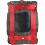 Bill Amberg Berlin Backpack - Olive/Red