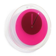 Block Orbit Clock - Pink