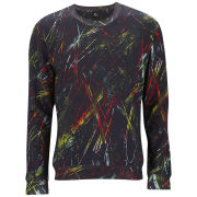 McQ Alexander McQueen Men's Clean Crew Neck Jumper - Dark Black Scratched