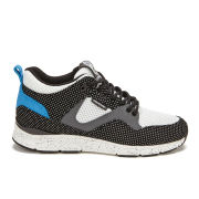 Gourmet Women's 35 Lite SP Leather/Mesh Trainers - Black Polka Dots/White