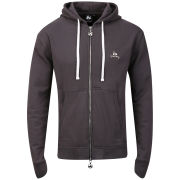 Money Men's Metal Badge Zip Through Hoody - Dark Grey