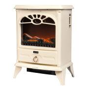 Warmlite 2000W Stove Fire - Cream