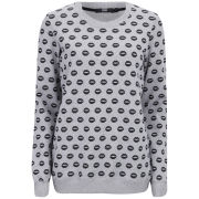 Markus Lupfer Women's Smacker Lip Sweatshirt - Grey