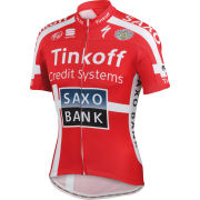 Tinkoff Saxo Team Replica Danish Champ Team Jersey - Red