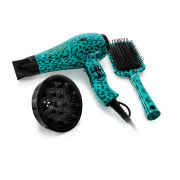 Diva Professional Rebel AC Teal Leopard Dryer Gift Set