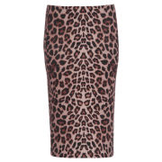Damned Delux Women's Bam Bam Pencil Skirt - Animal Print