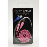 Happy Cables LED Charge Cables - Pink