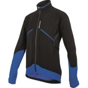 Santini Brigand Water Resistant and Windproof Jacket - Black/Blue