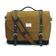 Sandqvist Men's Izzy Waxed Messenger Bag - Khaki