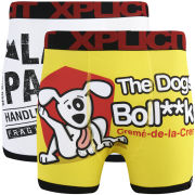 Xplicit Men's The Dogs 2-Pack Boxers - Yellow/White