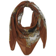 Codello Retromania Chains With Pom Pom Border Print Scarf