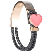 Love Moschino Women's Loveheart Bracelet - Black