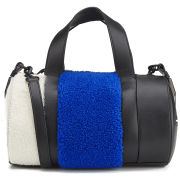 Opening Ceremony Women's Syd Small Leather and Shearling Satchel Bag - Cobalt Multi