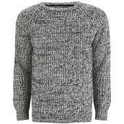 Brave Soul Men's Dawkins 3 Colour Twist Jumper - Grey
