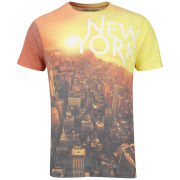 Brave Soul Men's 'New York' Print T-Shirt - White