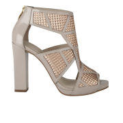 Kat Maconie Women's Geri Patent/Metallic Leather Heels - Rose Gold Metallic