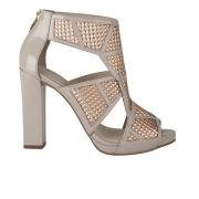 Kat Maconie Women's Geri Patent/Metallic Leather Heels - Rose Gold Metallic