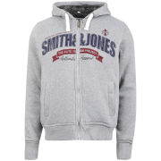 Smith and Jones Men's Cepheus Borg Lined Hoody - Mid Grey