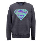 DC Comics Sweatshirt - Superman Glass Logo - Steel Grey