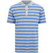 Gola Men's Yarn Dyed Stripe Polo Shirt - Grey/Blue