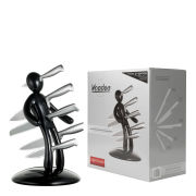 Raffaele Iannello Voodoo Knife Block With 5 Knives - Black