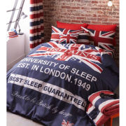 Catherine Lansfield Britains Finest Bedding Set - Navy