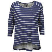 Brave Soul Women's Fraya Striped Top - Cream/Navy