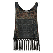 Madam Rage Women's Tassel Trim Top - Multi