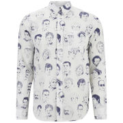 Wood Wood Men's Paradiski Heroes Cotton Shirt - White