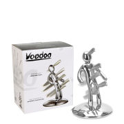 Raffaele Iannello Voodoo Knife Block With 5 Knives  - Chrome