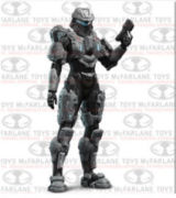Halo 4 Series 3 Commander Palmer With Magnum Pistols Action Figure