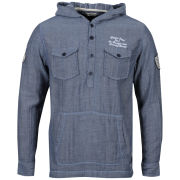 Brave Soul Men's Coleridge Hooded Shirt - Denim