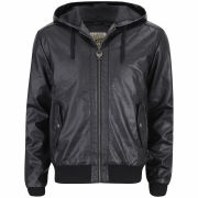 Ringspun Men's Major Leather Look Jacket - Black